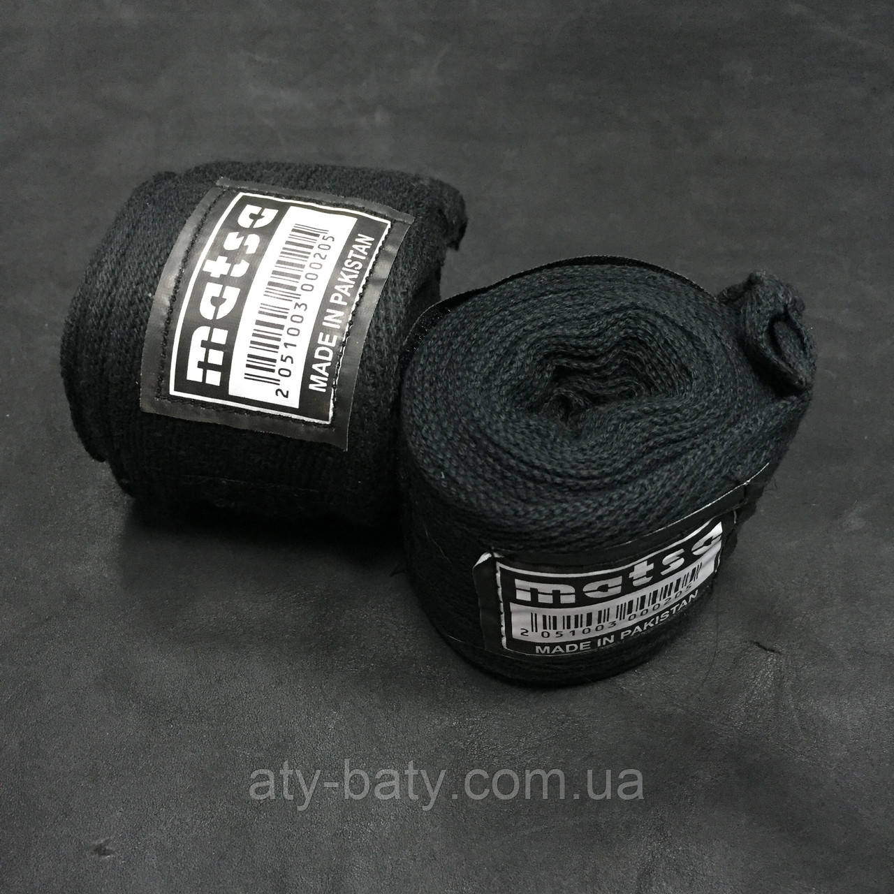 Бинты боксерские Matsa MA-0030-2,5 (BK)