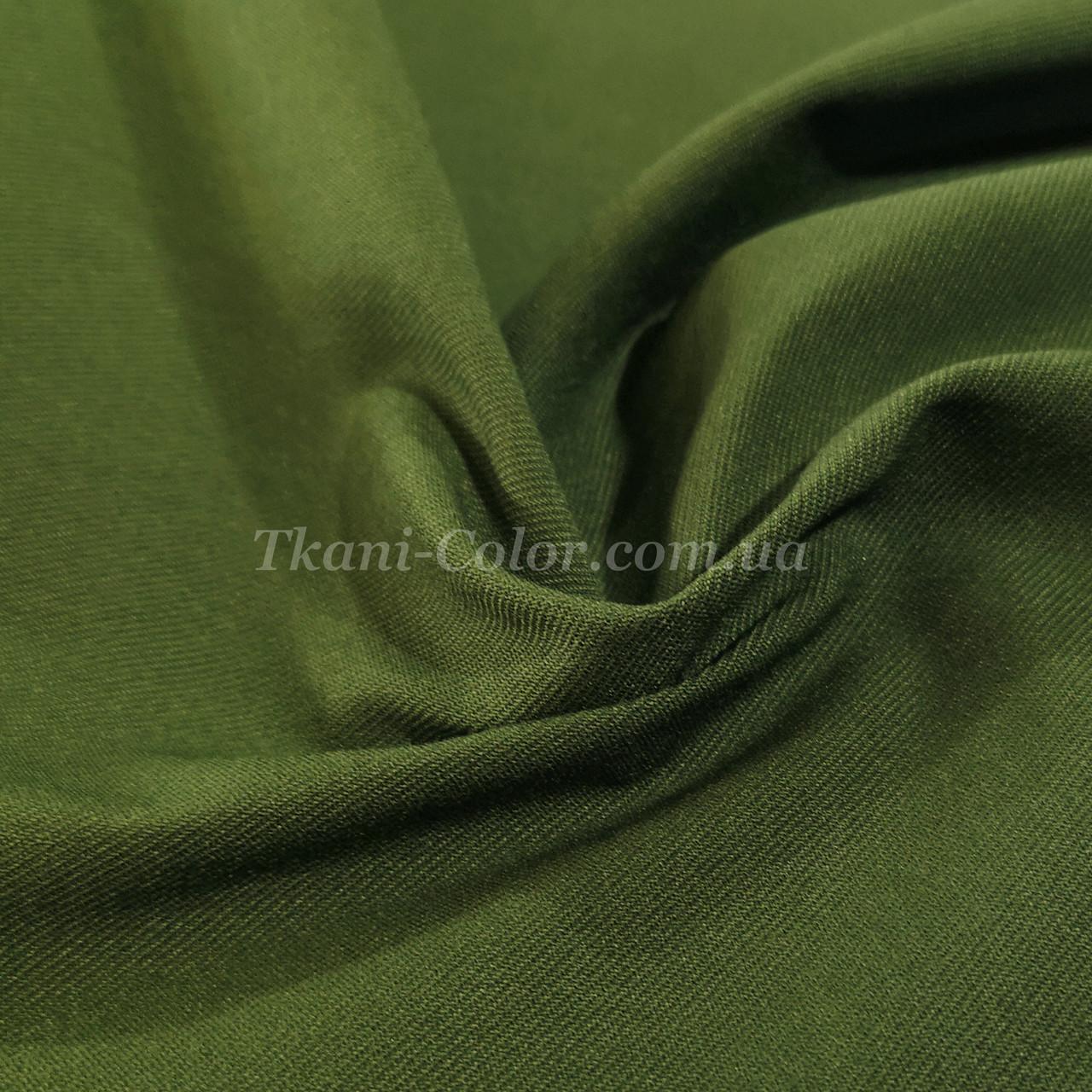 Ткань джинс бенгалин оливковый