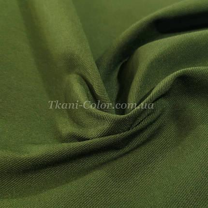 Ткань джинс бенгалин оливковый, фото 2
