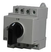 """Выключатель нагрузки LS 25 SMA A2  2р """"1-0"""" 25A 1000V DC, ETI, 4660061"""