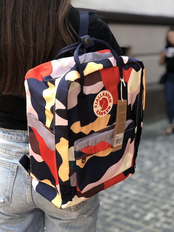 Стильный женский рюкзак-сумка канкен Fjallraven Kanken classic 16 л камуфляж