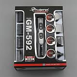 Акумуляторна машинка для стрижки Gemei Gm-592, фото 2