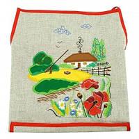 Льняной фартук с вышивкой Украинское село