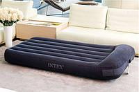 Кровать надувная intex 66768 велюровая полуторка без насоса