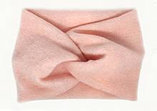 Розовая теплая повязка чалма