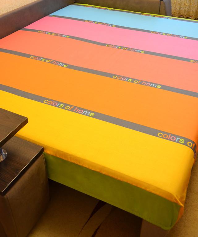 Простынь на резинке 180х200 см «Colors of home» in Luxury™ арт.32051
