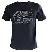 Футболка Fishing ROI BASS, темно-серая
