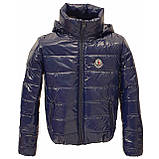 Куртка дутик жіноча демісезонна, багато кольорів, модель Світу Лак, Синя, розмір 42-48, фото 3