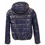 Куртка дутик жіноча демісезонна, багато кольорів, модель Світу Лак, Синя, розмір 42-48, фото 4