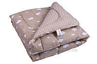Одеяло детское зимнее антиаллергенное Руно Тучка бежевое 105х140 см