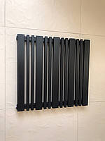 Радиатор дизайнерский  Lucca 13/550 Черный матовый 550*588