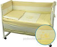 Защитное ограждение для детской кроватки Руно Котята желтое