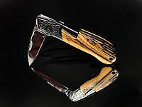 Нож складной Boda, рукоять дерево, чехол, замок back lock, карманные ножи