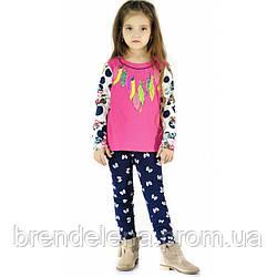 Батник для девочки розовый рост 98-110 (код 8203-00)