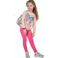 Батник для девочки розовый рост 116-128 (код 0160-00)