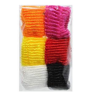 KATTi Резинка для волос 27 415 большая петля набор B цветная микс 6шт, фото 2