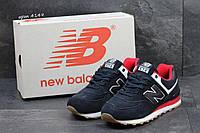 Мужские кроссовки в стиле New Balance 574, тёмнo-cиние с красным 44 (28,5 см)