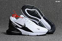 Мужские кроссовки в стиле Nike Air Max Flair 270, белые с черным 41 (26 см)