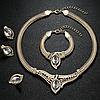 Комплект набор украшений ожерелье, кольцо, серьги и браслет