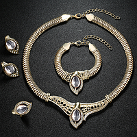 Комплект набор украшений ожерелье, кольцо, серьги и браслет, фото 1