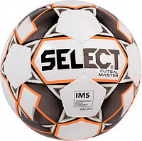 Мяч футзальный Select Futsal Master New (128) №4 White-Orange-Black (5703543186983) #F/B