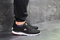 Мужские кроссовки в стиле Fila, черные с белым 41 (26 см)