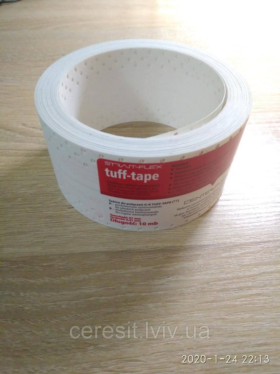 Лента Американка для швів Tuff tape Strait flex 10 м пог