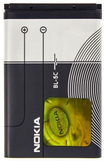 Аккумуляторная батарея Nokia BL-5C 1020 mAh для 110/1100/1101/112/114/1280/1600/1616/1650/1800/2112/2255/2270