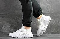 Мужские кроссовки в стиле Nike Huarache, сетка, кожа, пена, белые 43 (27,7 см)