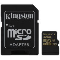 Карта памяти Kingston Micro SDHC 32Gb class 10 UHS-I +adapter U1