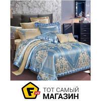 Комплект постельного белья евро 205x225 см хлопок, полиэстер синий Руно 845.137АЖ 70x70см, евро (SJ-013А+В_1)