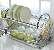 Сушилка для посуды 2 яруса 55,8x24,5x39,5 см