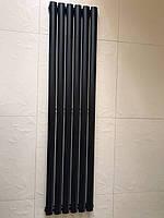 Радіатор дизайнерський вертикальний Rimini 6/1500 Чорний матовий 1500*354, фото 1