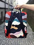 Стильный городской, школьный рюкзак канкен для девочки Fjallraven Kanken classic 16 л камуфляж, фото 2