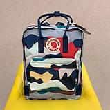 Стильный городской, школьный рюкзак канкен для девочки Fjallraven Kanken classic 16 л камуфляж, фото 3