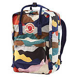 Стильный городской, школьный рюкзак канкен для девочки Fjallraven Kanken classic 16 л камуфляж, фото 4