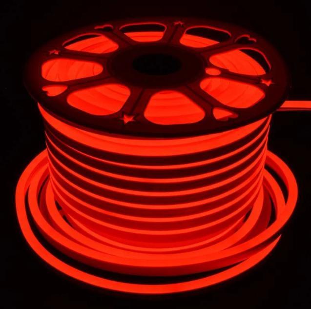 Стрічка Neon в бухті 5м 12V DC Червоний (7187) / Світлодіодна стрічка Червона