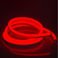 Стрічка Neon в бухті 5м 12V DC Червоний (7187) / Світлодіодна стрічка Червона, фото 3