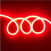 Стрічка Neon в бухті 5м 12V DC Червоний (7187) / Світлодіодна стрічка Червона, фото 5