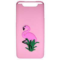 Чехол Cartoon 3D Case для Samsung A805 Galaxy A80 Фламинго