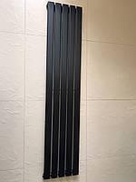 Радиатор дизайнерский вертикальный IDEALE Livorno 5/1600 Черный матовый 1600*340