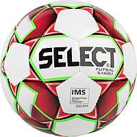 Мяч футзальный Select Futsal Samba New (301) №4 White-Red (5703543187089) #F/B