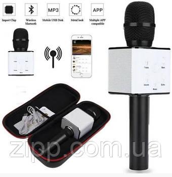 Бездротовий портативний мікрофон для караоке в чохлі Q7 MS Чорний