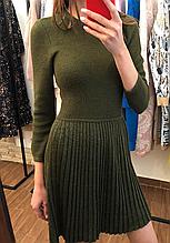 Сукня плісе колір Хакі р. XS