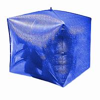 """Фольгированный куб Holography Синий 24"""" 70  см"""