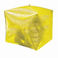 """Фольгированный куб золото holography 34.5*70 см 24"""""""