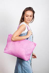 Пляжная сумка FAMO Гоа розовая 49*33*11 (SYMS-1803) #L/A