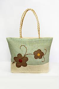 Пляжная сумка FAMO Паттайя зеленая 45*34*11 (SYMS-1801) #L/A