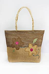 Пляжная сумка FAMO Паттайя коричневая 45*34*11 (SYMS-1801) #L/A