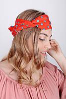 Узкие шарфы FAMO Шарф Гелла красный 150*17 #L/A